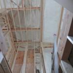 エクセランド菊丘,モデルルーム建築進行状況2,断熱材施工完了